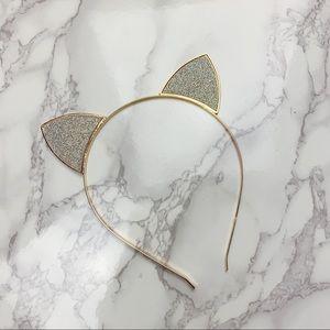 Glittery Cat Ear Headband